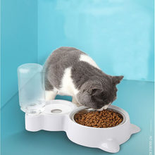 Cat Bowl Pet Automatic Drinking Water Bottle Dogs Cats Feeder Bowls Products Food Container Will Not Cause Mouth-Hair Get Wet(China)