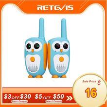 2個retevis RT30トランシーバー子供2個漫画フクロウデザインchildreラジオ0.5ワット1チャンネルトランシーバートーキー誕生日クリスマスギフト