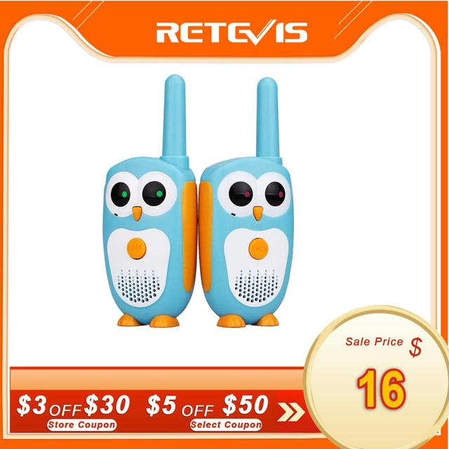 2Pcs Retevis RT30 Walkie Talkieเด็ก2Pcsการ์ตูนนกฮูกออกแบบChildreวิทยุ0.5W 1ช่อง talkiesวันเกิดคริสต์มาสของขวัญ