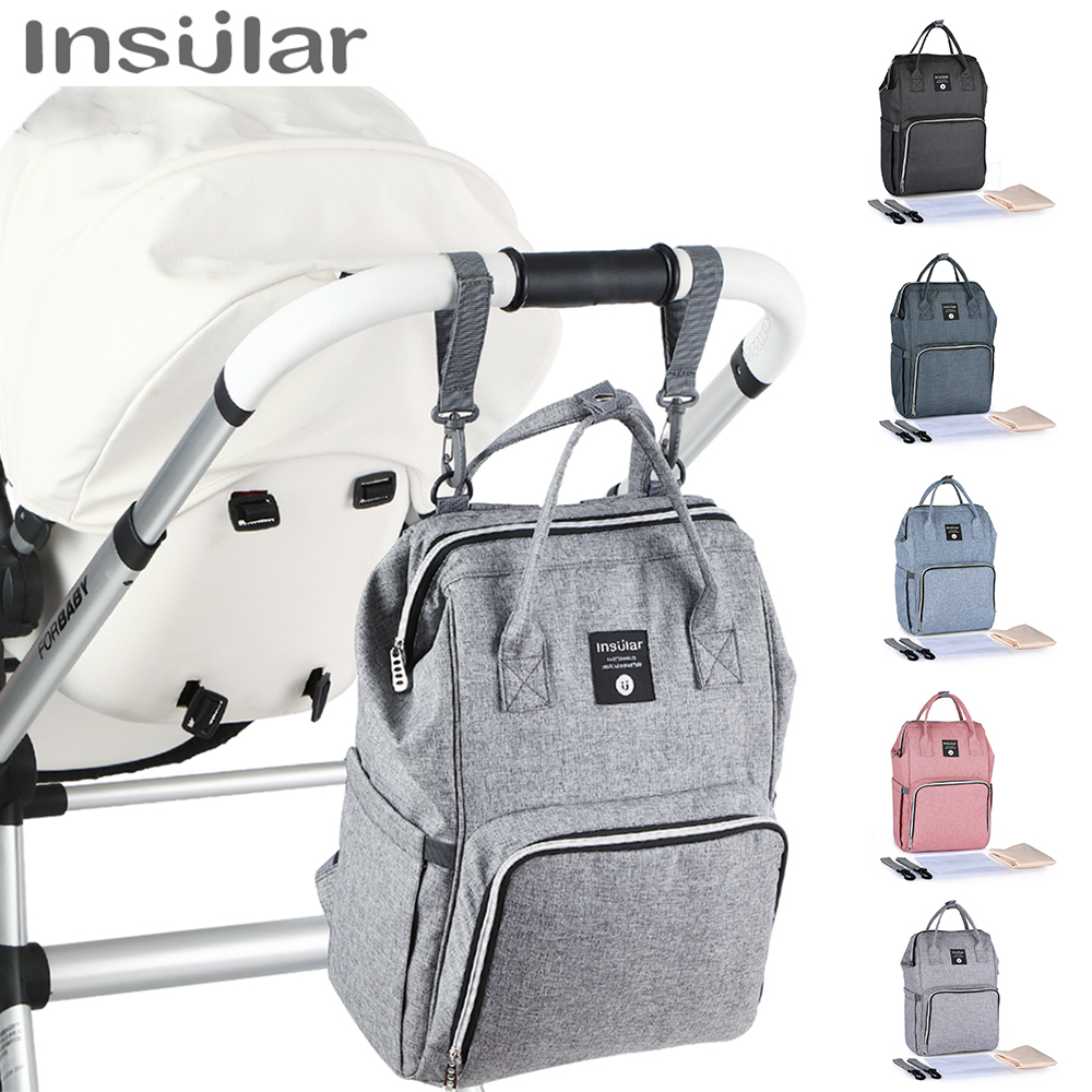 Insular Baby Diaper Bag Nappy Backpack For Mom And Baby Mummy Waterproof Wet Bag Travel Mom Backpack Stroller Nursing Diaper Bag