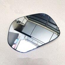 1 pçs espelho retrovisor lente para 14 18 chery tiggo 3 espelho retrovisor de vidro com aquecimento