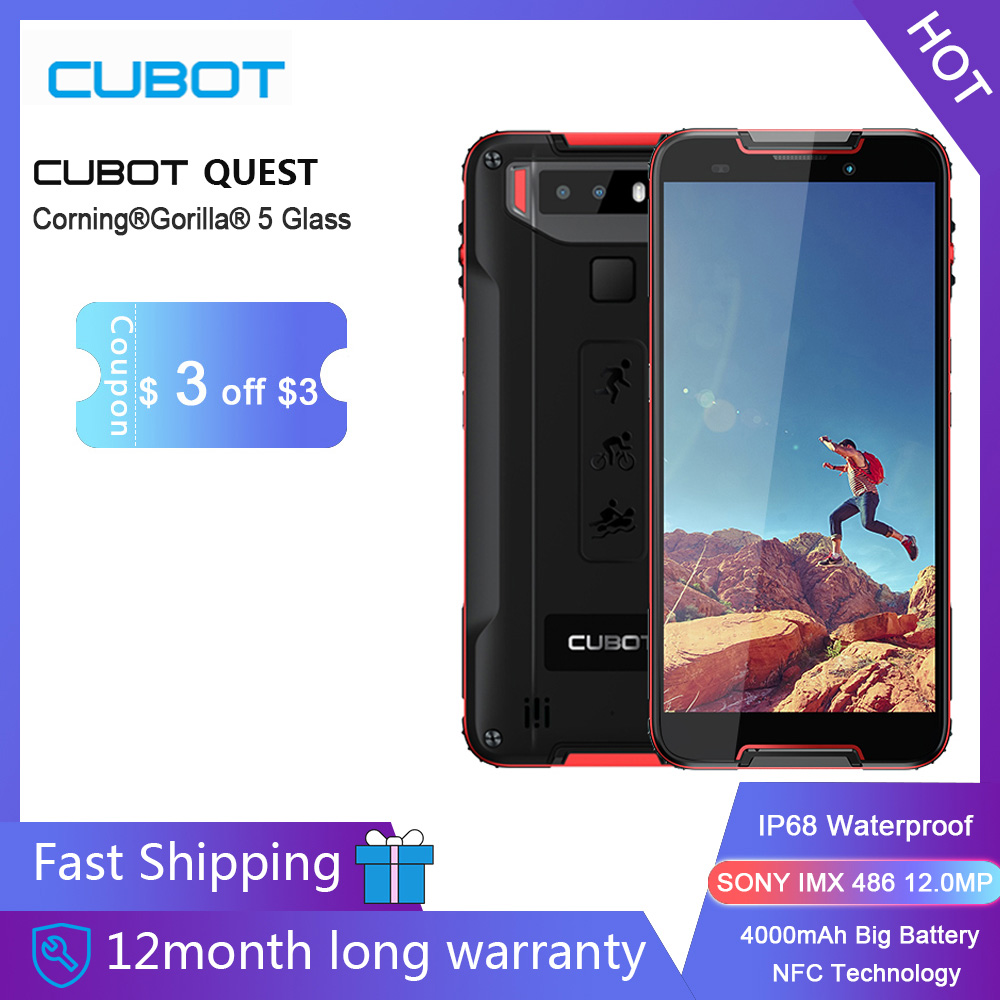 Cubot Quest Sports Rugged Phone 64GB Nfc Octa Core Face Recognition 12mp New Android