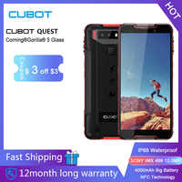 """Cubot Quest Sports Rugged Phone Helio P22 Octa-Core 5.5"""" Display 4GB+64GB 4000mAh Android 9.0 Cellphone4G LTE Dual Camera 12.0MP"""