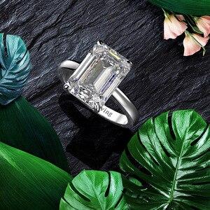 Image 5 - Wong Regen Classic 100% 925 Sterling Zilver Gemaakt Moissanite Edelsteen Wedding Engagement Diamanten Ring Fijne Sieraden Groothandel