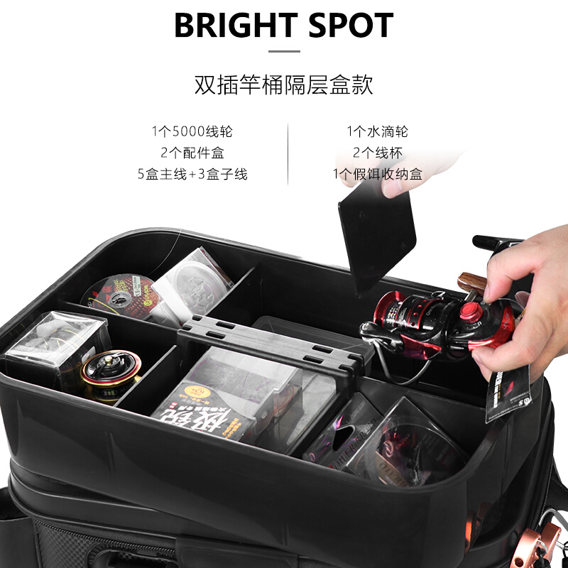 Durable Thickened EVA Fishing Box Waterproof Tackle Storage with Rod Holder Large Capacity Organizer & Carrying Bag Available (1)