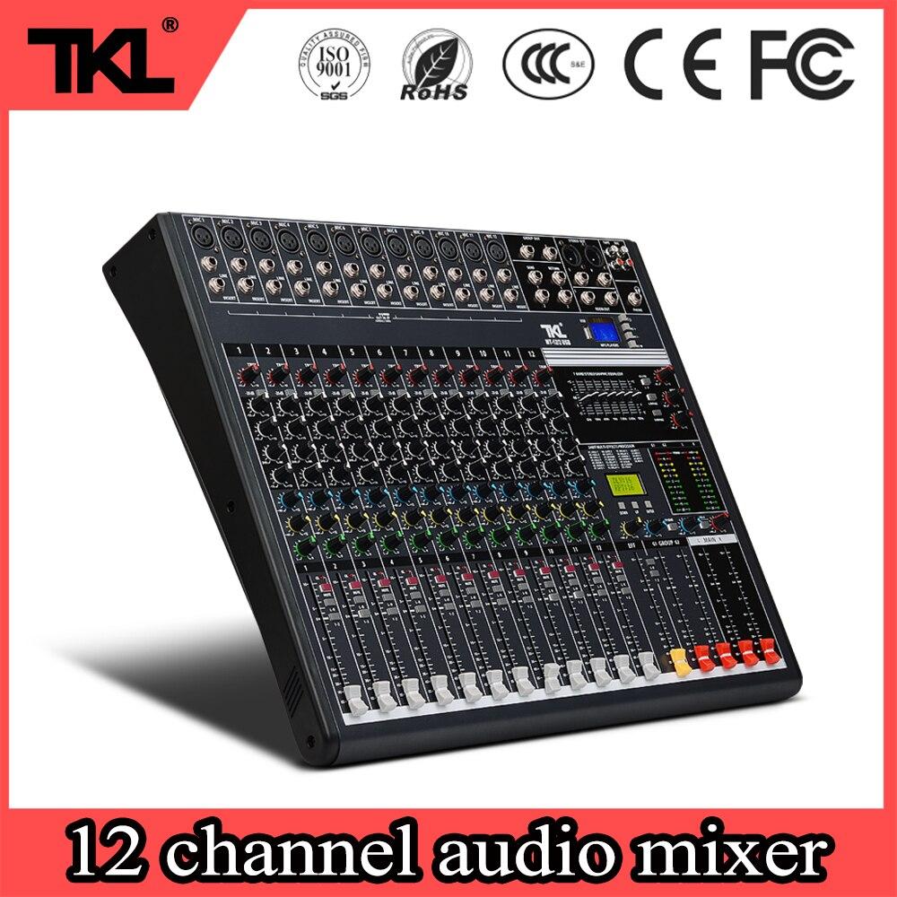TKL 12 kanałów profesjonalny mikser cyfrowy audio USB etapie konsola miksująca bluetooth konsoleta DJ
