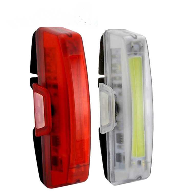 Raypal 2263 Bicycle Light Taillight USB Chargeable Cob Safe Warning Light Mountain Bike Bicycle Headlights
