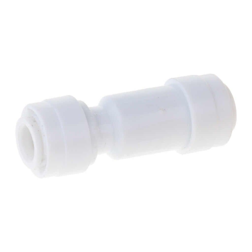 مستقيم OD أنبوب الكرة صمام ، تحقق صمام الاتصال السريع المناسب 1/4 بوصة بواسطة 1/4 بوصة OD صمام بدء RO نظام المياه مجموعة من 1