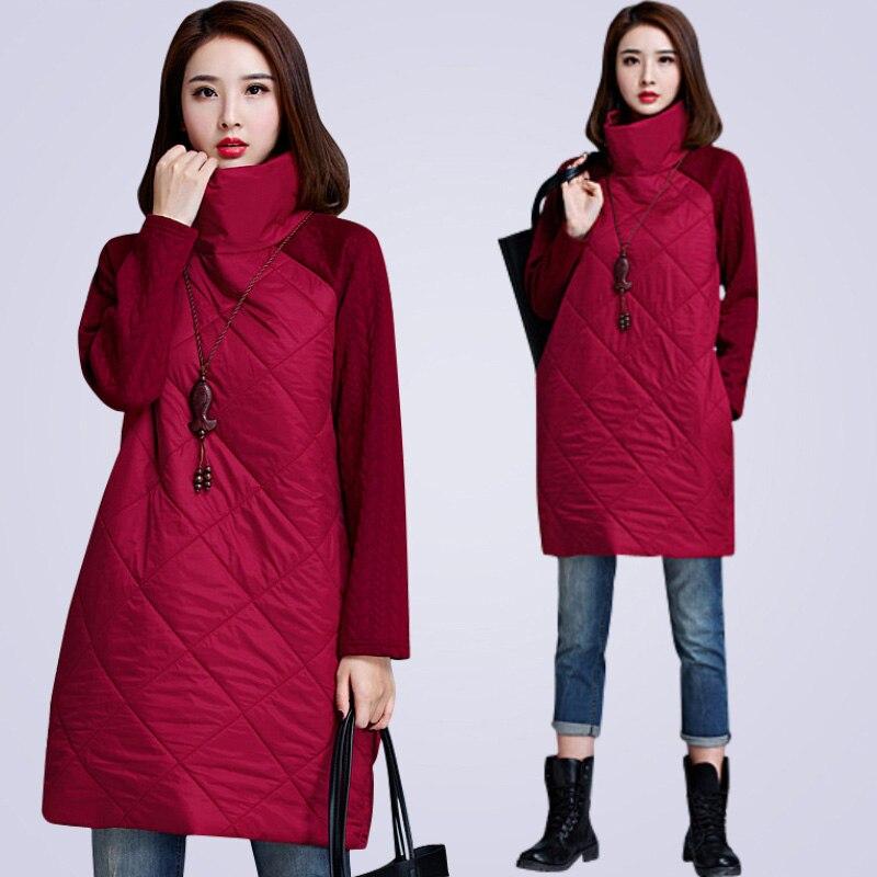2019 New   Parkas   Women Winter plus size long dress style Coats 5XL 6XL 7XL Big size Jacket Women Outwear coat black gray red