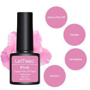 Image 4 - Lemooc 8 мл антифриз пилинг для ногтей латексная защита для кутикулы розовая защита для кутикулы лак для ногтей латексный дизайн ногтей