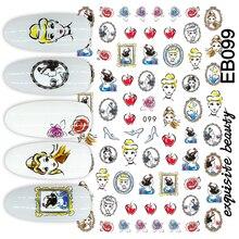 ЭБ-99 новый дизайн мультфильм Снегурочка красочный дизайн 3D ногтей наклейки наклейка аксессуары