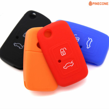 цена на PINECONE for CHERY A5 FULWIN TIGGO E5 A1 COWIN EASTER Car Key Cover Styling 3 Button Silica Gel Key Case Shell 1 Pc