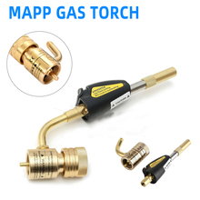 MAPP Propane Gas Welding Torches Self Ignition Trigger Brass Turbo Torch Brazing Solder Plumbing Blow Torch Soldering Tool