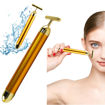 Facial Beauty Roller Energy Beauty Bar Slimming Face 24k Gold VibrationMassager Stick Lift Skin Tightening Wrinkle Bar Skin Car image