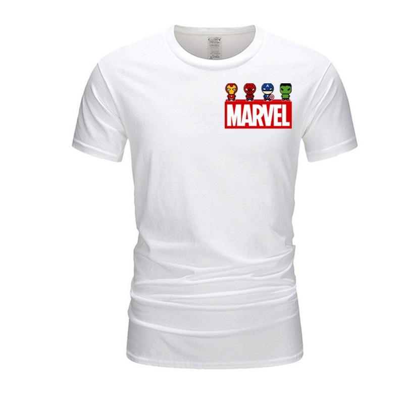 Человек-паук, Халк, Капитан Америка, Железный человек, Мужская футболка, Марвел, Мстители, футболка с коротким рукавом, 100% хлопок, размера