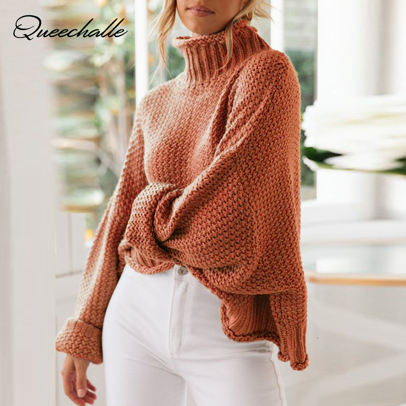 Autumn Winter Turtleneck Knitted Sweater Women Plus Size Pullovers Female Sweater Pullover Women Loose Sweaters Oversize 3xl