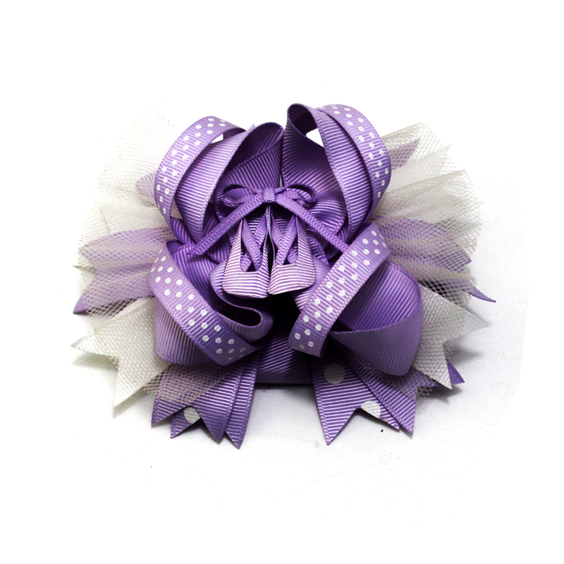 Princess Hair Decoration Girls Solid Color Hair Accessories Bows Hair Clip Polyester Bows Hair Clip Children's Headdress Fashion