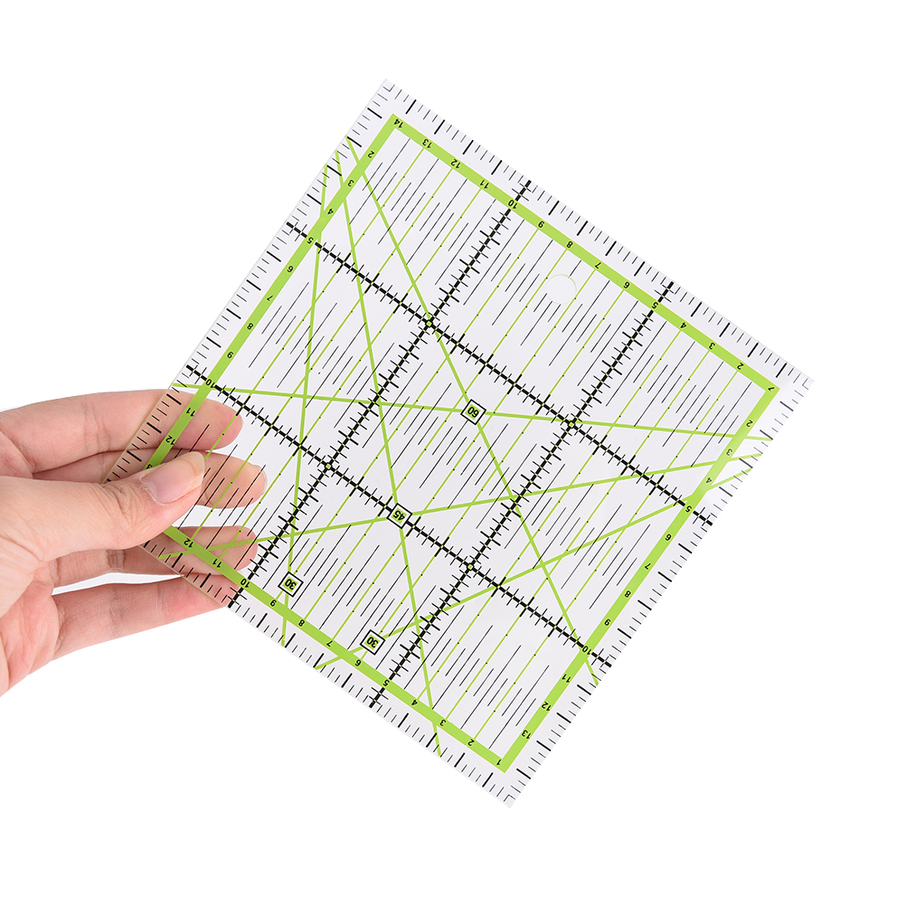 15x15cm Transparent Quilting Sewing Patchwork Ruler Cutting Tool Tailor Craft G03 Drop Ship