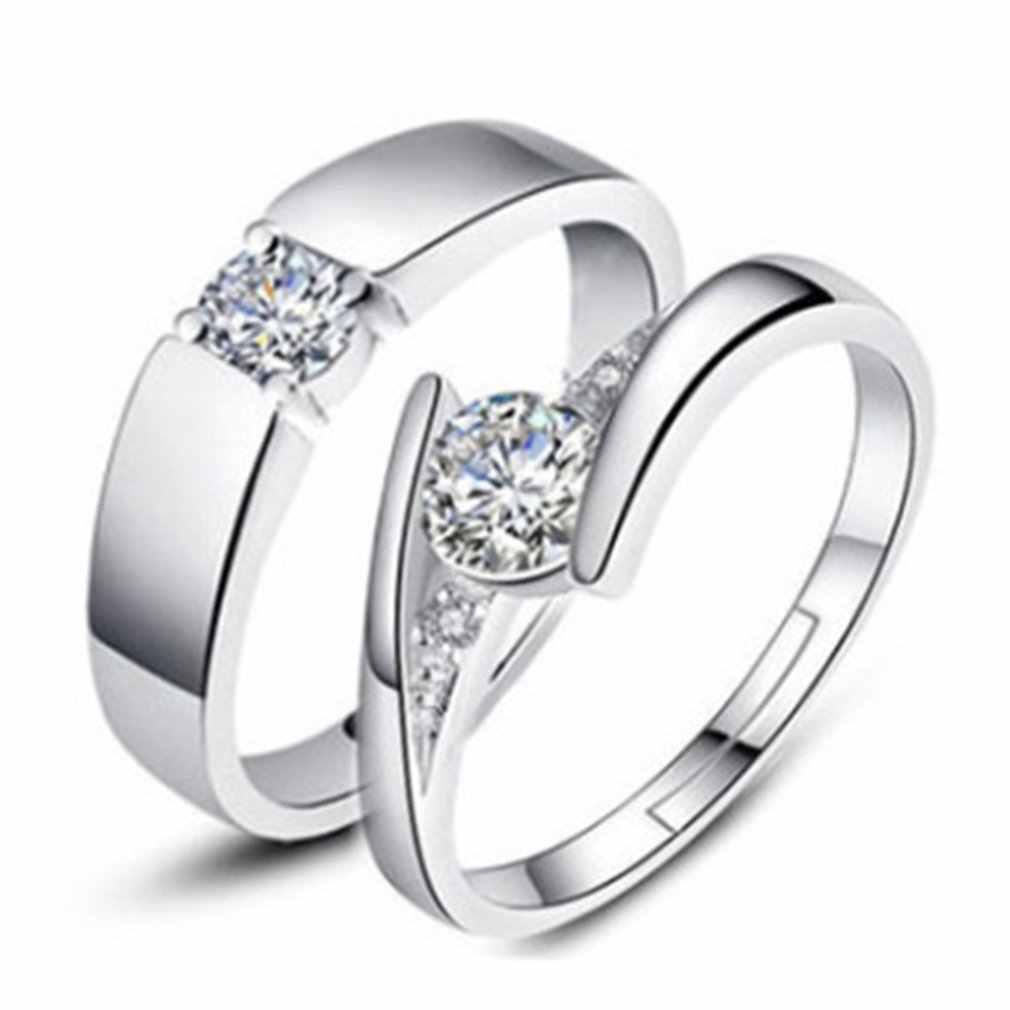 Fashion Kreatif Membuka Beberapa Cincin Cincin Pernikahan Zirkon Pernikahan Cincin Dekorasi Hari Valentine Hadiah