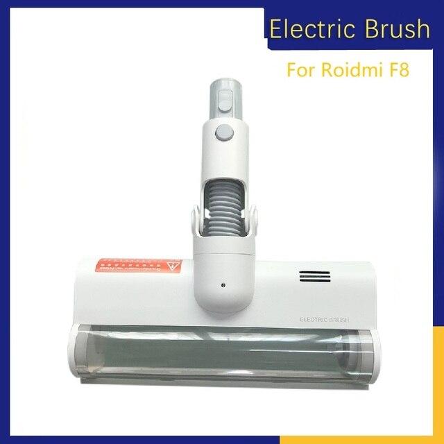 Cabezal de cepillo eléctrico de tierra para aspiradora Xiaomi Roidmi F8, cepillo de rodillo de lana suave de fibra de carbono