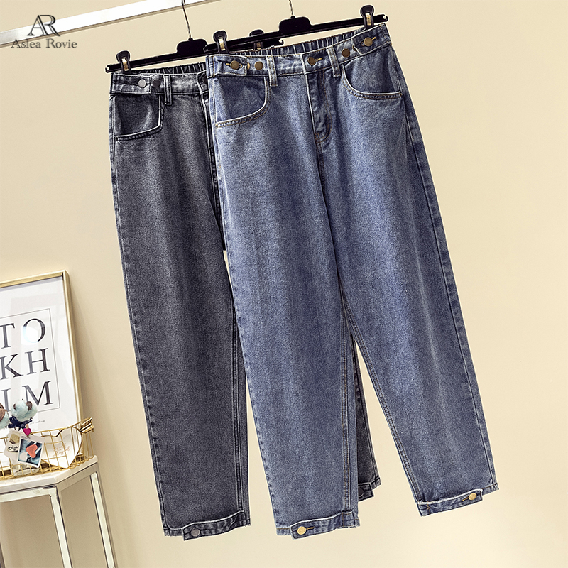 Boyfriend Jeans For Women  High Waist Mom Jeans   Plus Size Mom  Feminino Harem  Denim Pants  100kg
