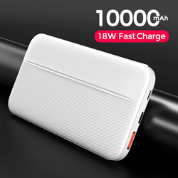 YKZ 10000mAh Powerbank Portable 18W Fast Charging External Battery Dual USB Power Bank For iPhone Xiaomi Mi 9 iPhone USB Type C