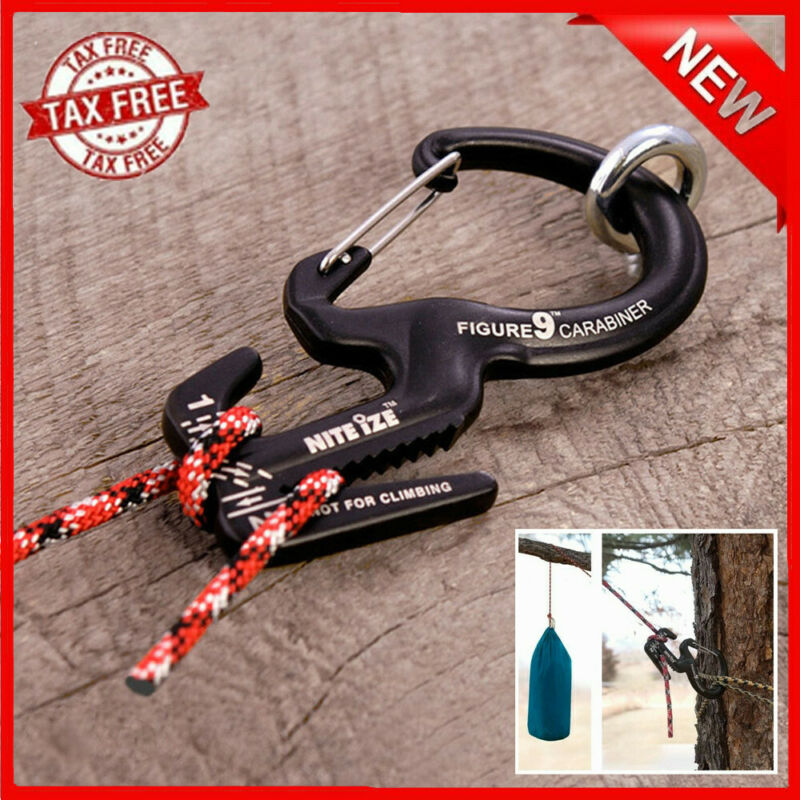 1pc Climbing Carabiner Clip Tightening Mechanism Carabiner Clips With Aluminum Rope