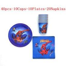 Piatti di carta a tema Spiderman tazze forniture per feste stoviglie usa e getta Baby Shower festa di compleanno per bambini decorazioni Super Hero