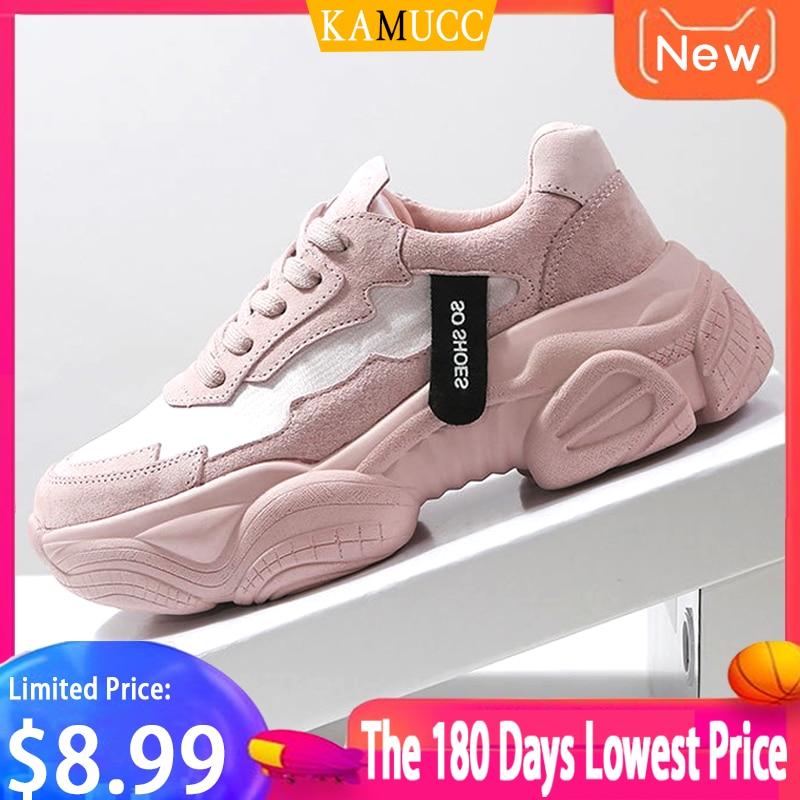 KAMUCC 2020 New Women Shoes Spring Autumn New Women's Shoes Ulzzang Platform Sports Shoes Female Wisdom Shoes Women Snekaers