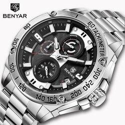 2019 nova benyar relógios masculinos topo marca de luxo relógio masculino esportes relógios cronógrafo à prova dwaterproof água relógio de negócios relogio masculin