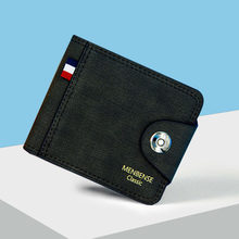 Men Soft PU Leather Short Wallet With Hasp Vintage Thin Small Pures Coin Pouch Multi-functional Card Holder Wallets Carteira(China)