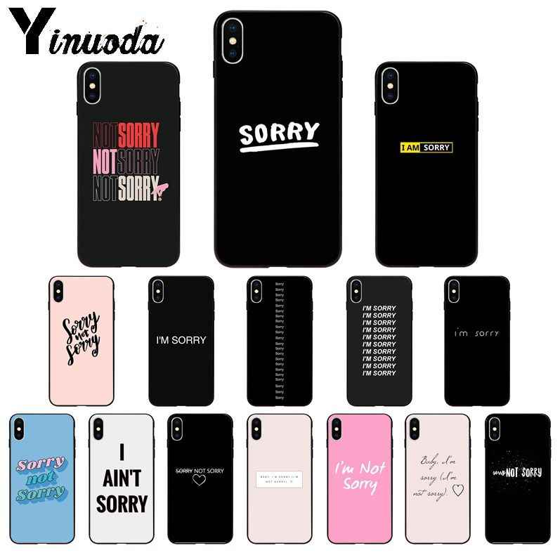 Yinuoda Maafkan Aku Tidak Menyesal TPU Lembut Silicone Ponsel Case PENUTUP UNTUK iPhone 11 Pro XS MAX 8 7 6 6S Plus X 5 5S SE XR Case