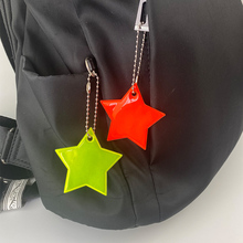 Keyrings Pendant-Accessories Keychain-Bag Reflector Visible Safety PVC for Star Colorful