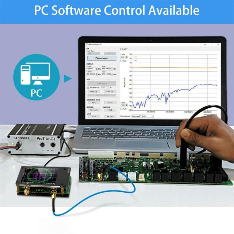 Анализатор антенны с ЖК-дисплеем 2,8 дюйма, NanoVNA, VHF, UHF, UV, векторная сеть
