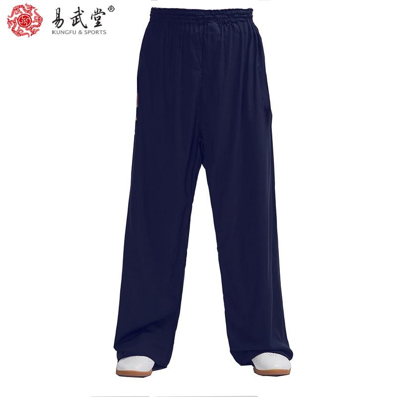Yiwutang Chinese martial arts cotton Tai chi pants Kung fu uniform Wushu clothing and Kung fu pants