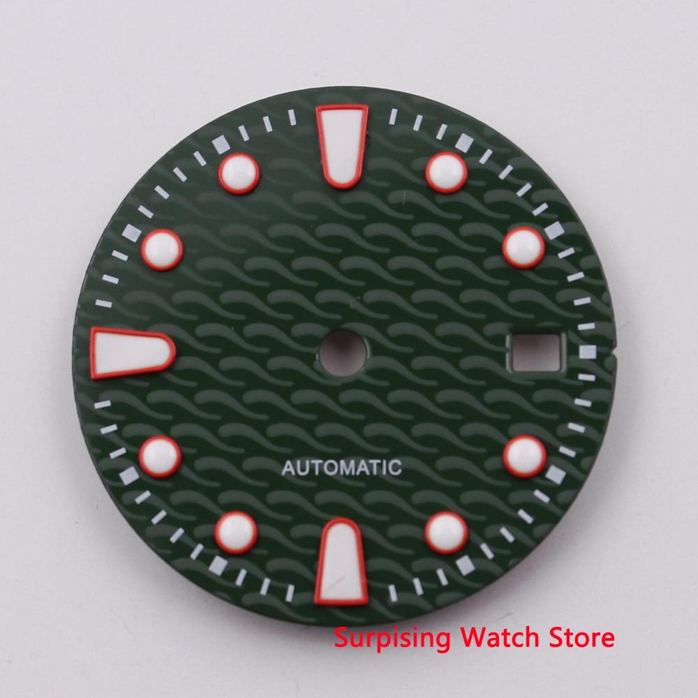28.5mm luminous watch dial fit ETA2836/2824 Miyota 8205 8215 82 series Mingzhu DG2813/3804 automatic movement