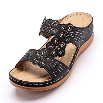 Damskie sandały damskie buty sandały damskie Slip On damskie Hollow jednolity kolor sandały damskie otwarte palce kobiece slajdy buty tanie i dobre opinie KUIDFAR CN (pochodzenie) GLADIATORKI Klinowe Otwarta RUBBER Niska (1 cm-3 cm) 0-3 cm Na co dzień Wsuwane Dobrze pasuje do rozmiaru wybierz swój normalny rozmiar