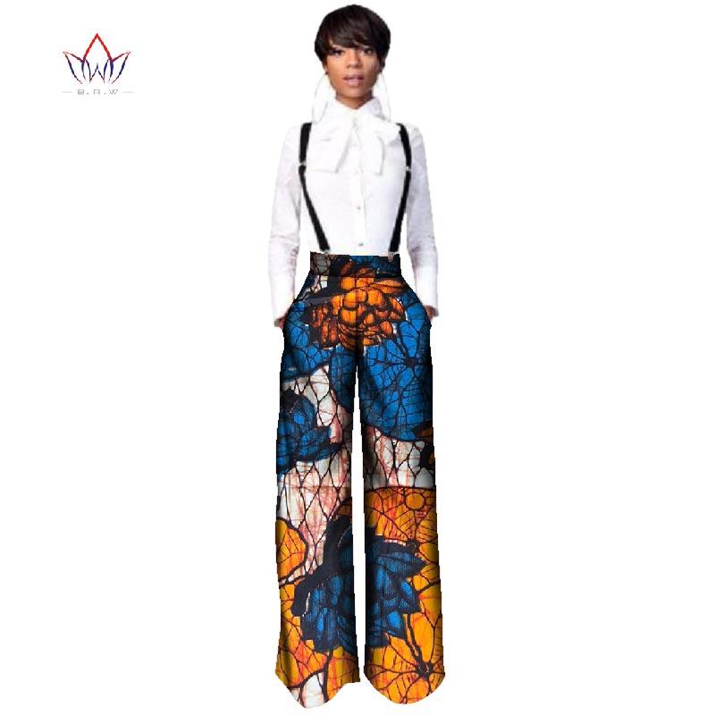 BRW Высокое качество брюки африканские прямые длинные брюки цельный комбинезон с принтом Дашики одежда для женщин WY2478