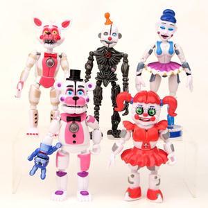 Image 2 - Figuras de acción de FNAF, Bonnie Foxy, Fazbear, muñecos de juguete para niños, cinco noches en freddys, 17 unidades