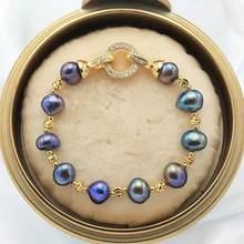Juya FAI DA TE Perle Barocche Bracciali Che Fanno di Fissaggio Chiusura Fibbia Catenacci Accessori Per Le Donne Naturale Pietre Gioielli Fatti A Mano