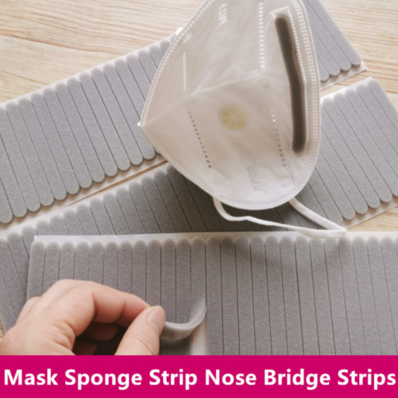 50pcs Mask Protect Strip Foam Anti-Fog Nose Bridge Pads Cushion Mouth Mask Comfortable Sponge Protection Strip Nose Bridge Strip