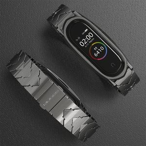 Image 3 - Strap for Mi Band 5 NFC Global Version Bracelet for Xiaomi Mi Band 4 Wristbands Metal Wrist Strap for Mi Band 3 Stainless Steel