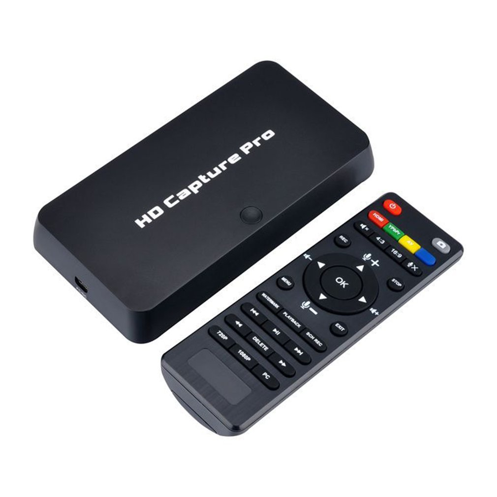 HD 1080P jeu Capture vidéo HDMI enregistreur vidéo télécommande enregistrement chronométré pour PS4 Xbox Support Mic Plug and Play