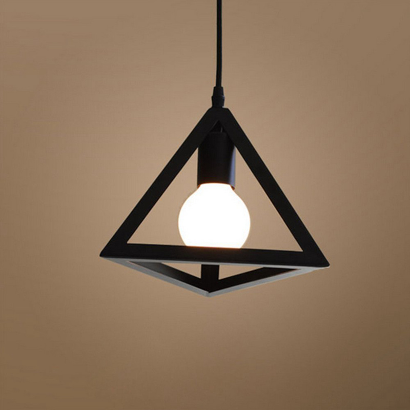 Triple-cornered Lighting Ceiling Lampshade And Hanging Frame Industrial Metal Adjustable Chandelier