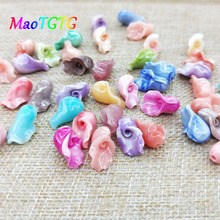 Mixed Color Calla Lily Coral Beads For Jewelry Making Necklace Bracelet Brooch Carved Calla Coral Beads Accessories Wholesale недорого