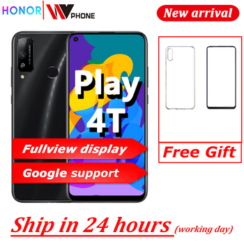 Перейти на Алиэкспресс и купить Смартфон HONOR Play 4T 6G 128G Kirin 710A 6,39 дюймов полноразмерный дисплей 48 МП Двойная камера 4000 мАч GPU LINK Turbo мобильный телефон