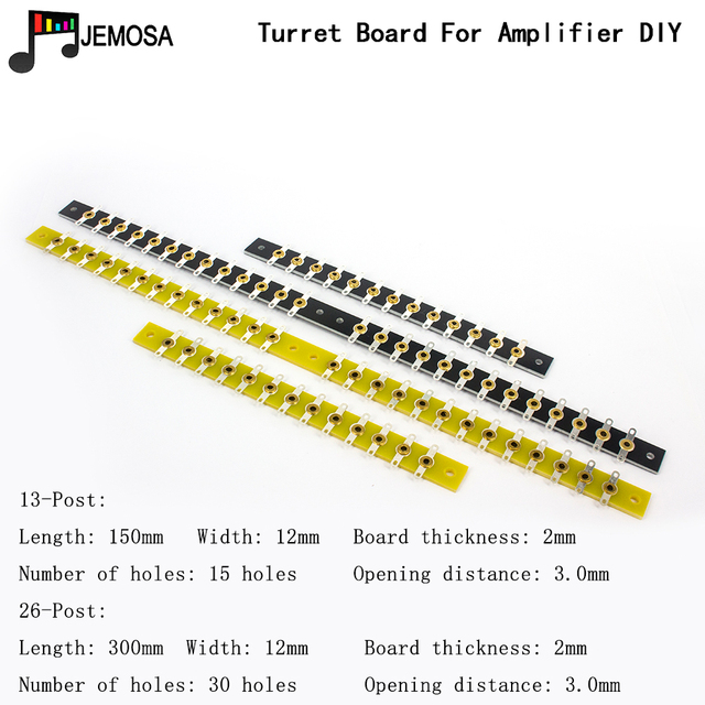 2PCS DIY Project Audio Tag Strip Tag Board Turret Board Terminal Lug Board For Vintage Tube Amplifier Double head Soldering