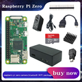 Raspberry Pi ZERO/ ZERO W/ZERO WH kit Kit + Корпус + радиатор + головка GPIO + дополнительная SD-карта на 32 ГБ/адаптер питания для RPI zero