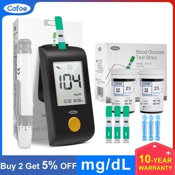 цена на Cofoe Yiling Glucometer mg/dL Medical Blood Glucose Meter Diabetes Blood Glucose Test Strips And Lancet Household Glucose Meter