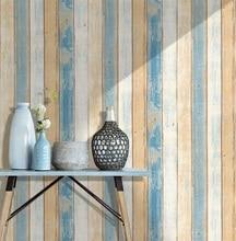 0.45*6m/rolo de madeira do vintage 3d auto adesivo papel parede para paredes rolos mural contato sala cozinha banheiro decoração da sua casa